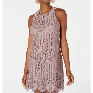 Speechless Lace Purple Mid Dress